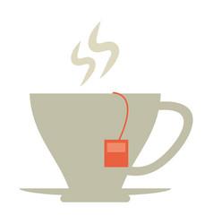 Hot tea cup icon vector
