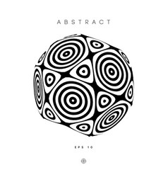 hypnotic abstract circles logo optical illusion vector image