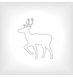 icon or emblem deer vector image
