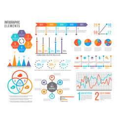 infographics elements statistics chart option vector image