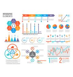 infographics elements statistics chart option vector image