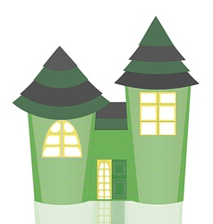 Isolated green castle vector