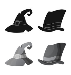 isolated object of headwear and cap icon vector image