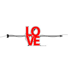 love lettering calligraphy background vector image