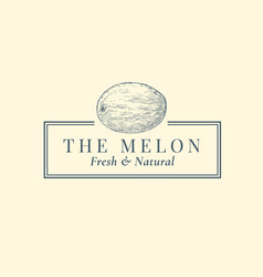 melon abstract sign symbol or logo vector image