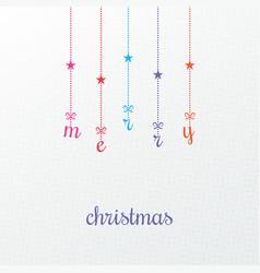 Merry christmas vintage card design background vector