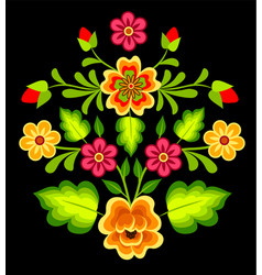 mexican floral element vector image