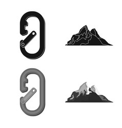 Mountaineering and peak vector