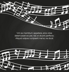 Musical blackboard background design - chalkboard vector