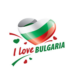 national flag bulgaria and the vector image
