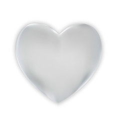 Naturalistic colorful 3d silver heart on a white vector