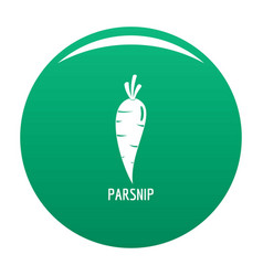 Parsnip icon green vector