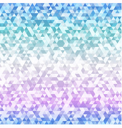 pastel color triangle seamless pattern vector image