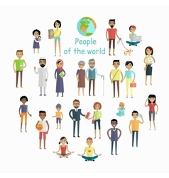 People of The World Concept in Flat Design vector