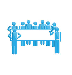 people with business sign symbol vector image