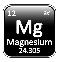 Periodic table element magnesium icon vector