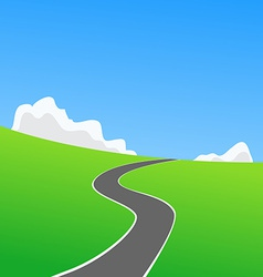 Picture of empty countryside road vector
