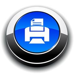 Print 3d round button vector