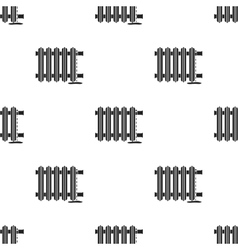 Radiator icon in black style isolated on white vector image