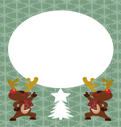 Reindeer Postcard vector image