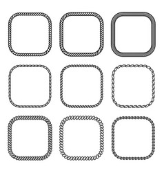 Rope set of square frames collection vector