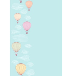 Seamless side border made of balloons vector