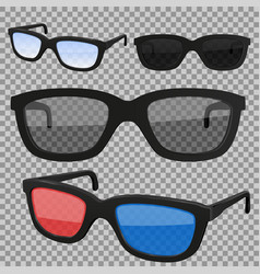 Set glasses isolated vector