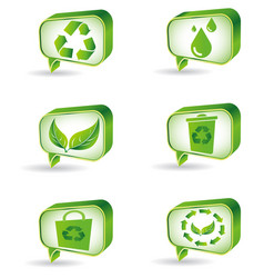 set green ecology icons vector image