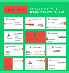 set of 12 socks creative busienss card template vector image