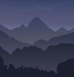 silhouette mountains vector image