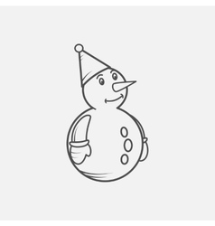 snowmen isolated on white background vector image