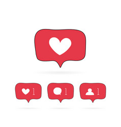 social media like comment follower vector image