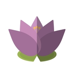 Spa flower lotus isolated icon vector
