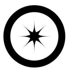 Star black icon in circle vector