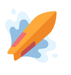 Surfing flat vector