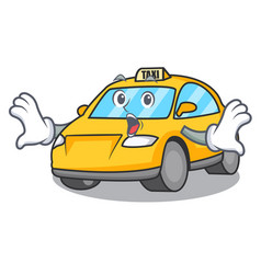 Surprised taxi character mascot style vector