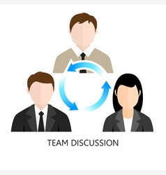 Team Discussion Icon Flat design Concept vector image