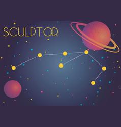 The constellation sculptor vector