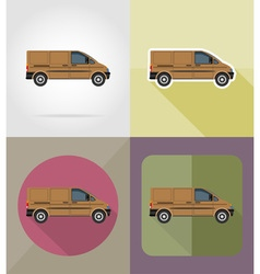 transport flat icons 10 vector image