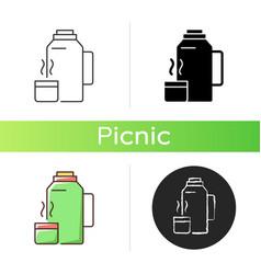 Vacuum flask icon vector