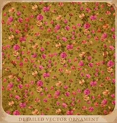 Vintage Floral Wallpaper vector