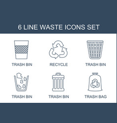 waste icons vector image