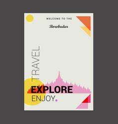 welcome to borobudur jawa tengah indonesia vector image