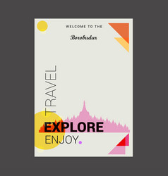 Welcome to the borobudur jawa tengah indonesia vector