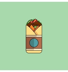 Beef Roll in Flat Design vector image