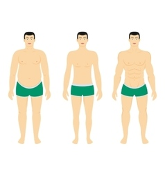 Before and after diet weight loss vector