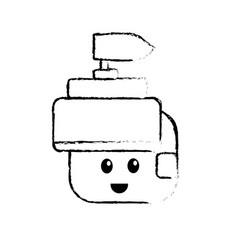 figure warrior head character to video game vector image vector image