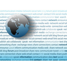 global communication social media network connecti vector image vector image