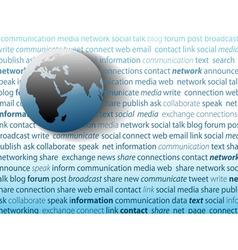 global communication social media network connecti vector image