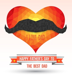 Heart with happy father day vector image